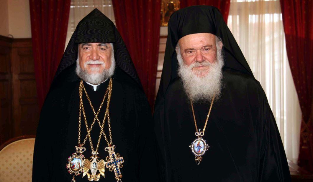 Συνάντηση Αρχιεπισον κόπου με τον Αρμένιο Πατριάρχη Κιλικίας Αράμ, Ιανουάριος 2010