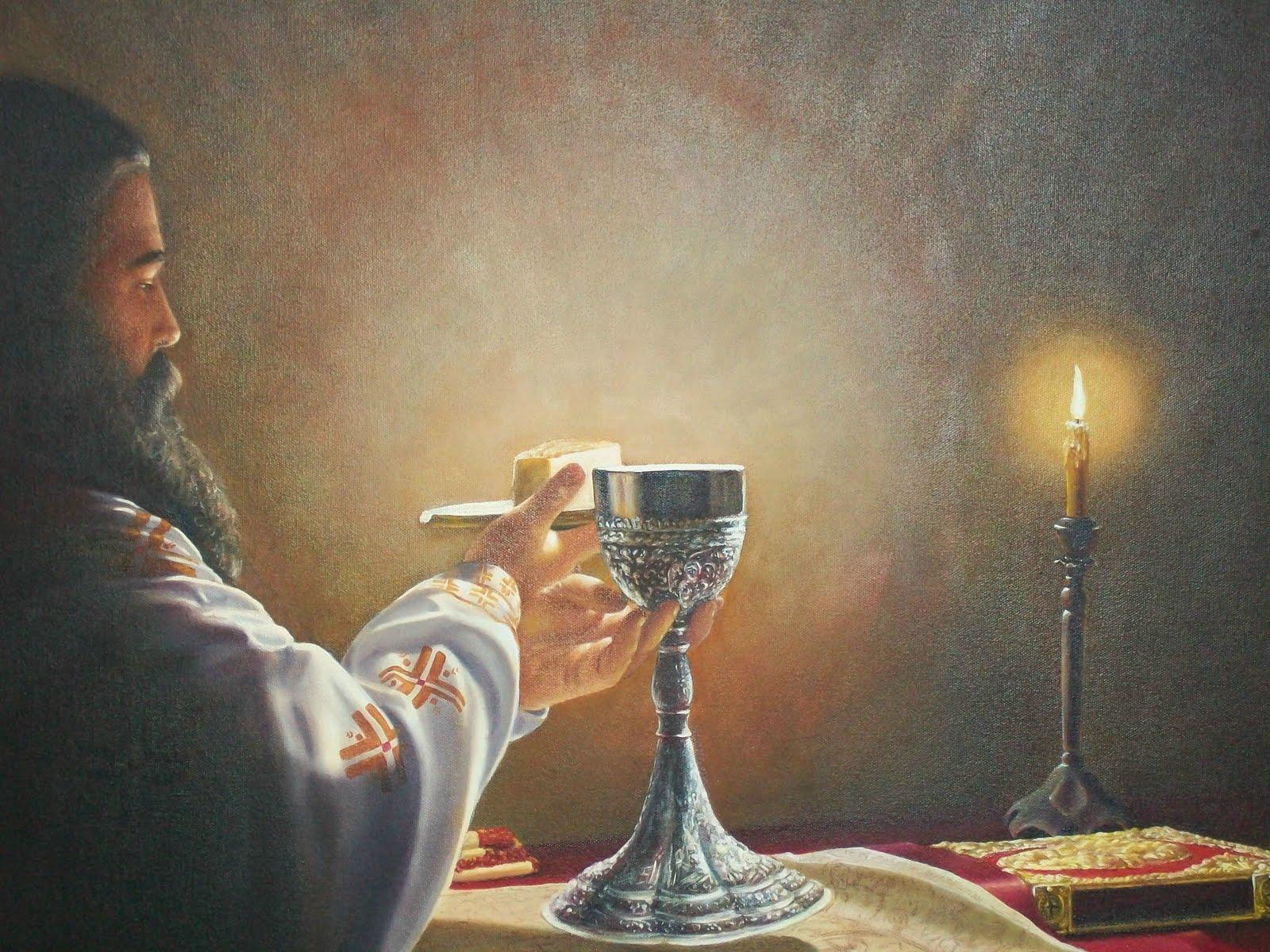 Αποτέλεσμα εικόνας για το μυστηριο της Θείας ευχαριστίας και ο ιερέας