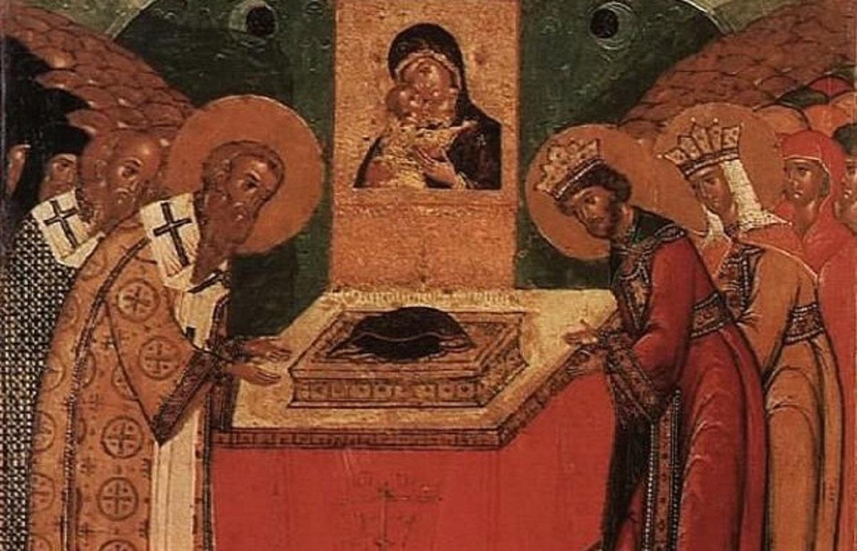 Αποτέλεσμα εικόνας για Κατάθεσις Τιμίας Ἐσθῆτος τῆς Θεοτόκου ἐν Βλαχέρναις (2 Ίουλίου)