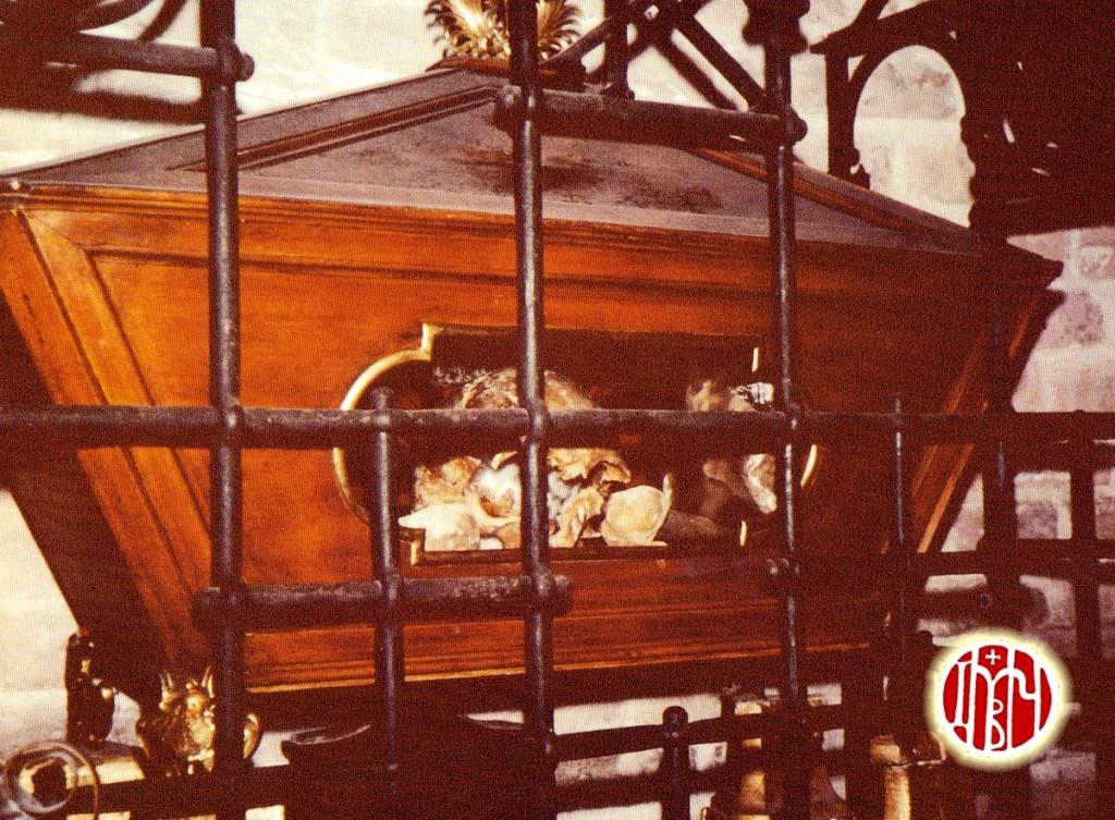 Η λάρνακα με τα ιερά λείψαν του αγίου Δημητρίου στην κρύπτη του Αββαείου του San Lorenzo in Campo (1978)