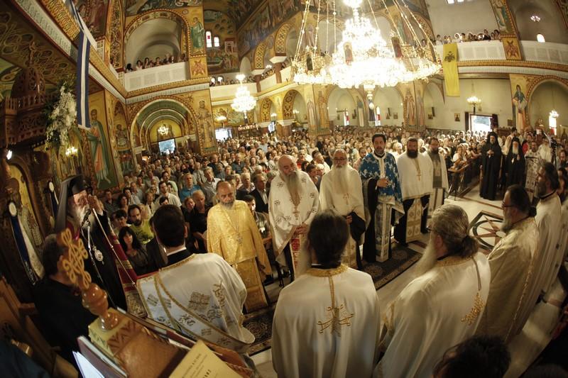 04/06: Τα εγκαίνια του ιερού ναού Αγίας Ειρήνης Γαλατσίου τέλεσε ο Αρχιεπίσκοπος Αθηνών και πάσης Ελλάδος κ. Ιερώνυμος.