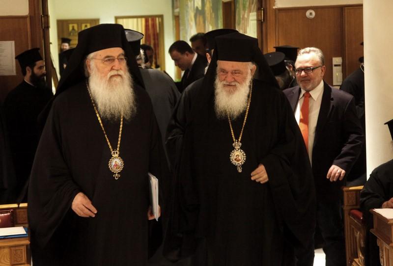 08/03: Έκτακτη Σύγκληση της Ιεράς Συνόδου της Ιεραρχίας της Εκκλησίας της Ελλάδος, υπό την Προεδρία του Μακαριωτάτου Αρχιεπισκόπου Αθηνών και πάσης Ελλάδος κ. Ιερωνύμου, στην Αίθουσα Συνεδριών της Ιεράς Συνόδου της Ιεραρχίας.