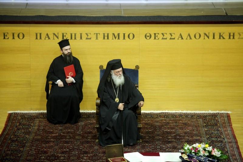 10/11: Επίτιμος Διδάκτωρ της Θεολογικής Σχολής του Αριστοτελείου Πανεπιστημίου Θεσσαλονίκης αναγορεύθηκε ο Αρχιεπίσκοπος Αθηνών και πάσης Ελλάδος κ. Ιερώνυμος.