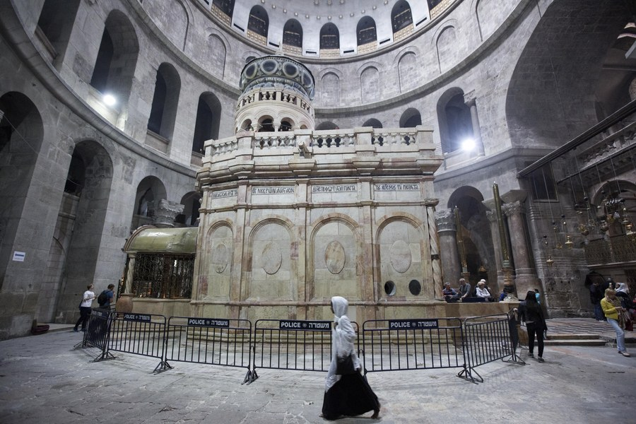 Tomb of Jesus Christ in Church of the Holy Sepulchre in Jerusalem