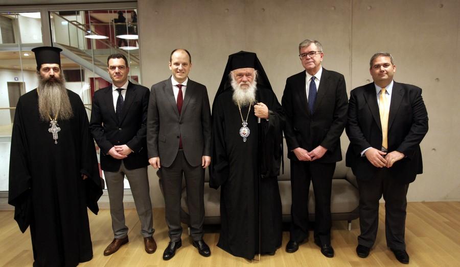 12/02: Ο Αρχιεπίσκοπος σε συνάντηση κληρικών και λαϊκών στελεχών της Αρχιεπισκοπής στο Κέντρο Πολιτισμού - Ίδρυμα Σταυρός Νιάρχος.