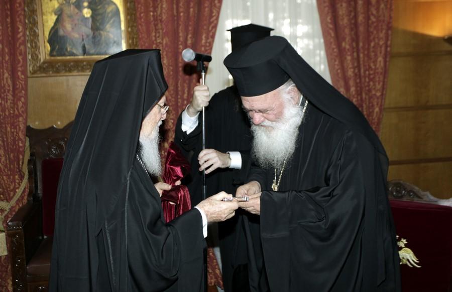 06/06: Τον Αρχιεπίσκοπο επισκέφθηκε ο Οικουμενικός Πατριάρχης.