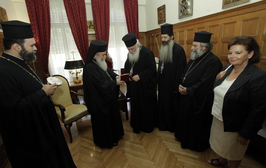 06/07: Συνάντηση του Αρχιεπισκόπου με τον Πατριάρχη Ιεροσολύμων.