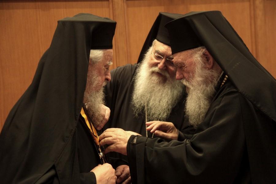 08/03: Ιεραρχία: Τιμήθηκε ο Μητροπολίτης Καρυστίας και Σκύρου κ. Σεραφείμ για την συμπλήρωση πεντηκονταετίας στην Αρχιερωσύνη.