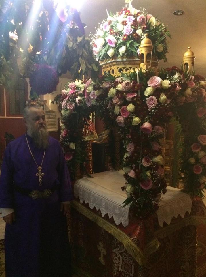 Επιτάφιος των Αγίων Θεοδώρων και Αποστόλου Ανδρέα στο Περιστέρι.