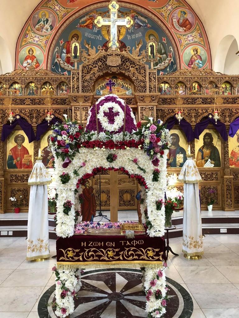 Από τον Ιερό Ναό Αγίου Παντελεήμονος και Αγίας Παρασκευής, στο Harrow - ΒΔ Λονδίνου.